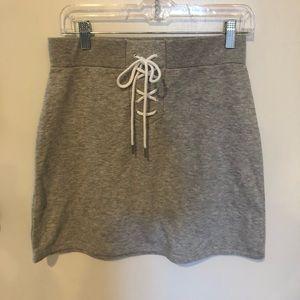 Joe Boxer Lace-up Front Mini Skirt